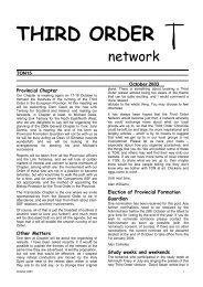 THIRD ORDER - the TSSF European Province Website