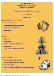 Chronicle Summer 2004 - the TSSF European Province Website