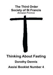 Thinking About Fasting - the TSSF European Province Website