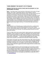 JPIC Newsletter 01 - the TSSF European Province Website
