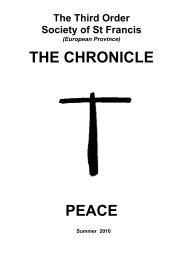 PEACE 2010 - the TSSF European Province Website