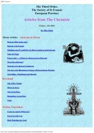 Chronicle Winter 2003 - the TSSF European Province Website