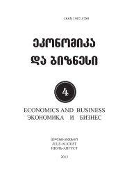 ekonomika da biznesi - Tbilisi State University