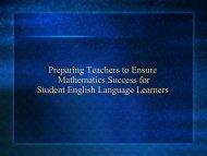 Preparing Teachers to Ensure ELL Math Success - Mathematics for ...