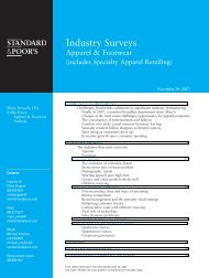 Industry Surveys