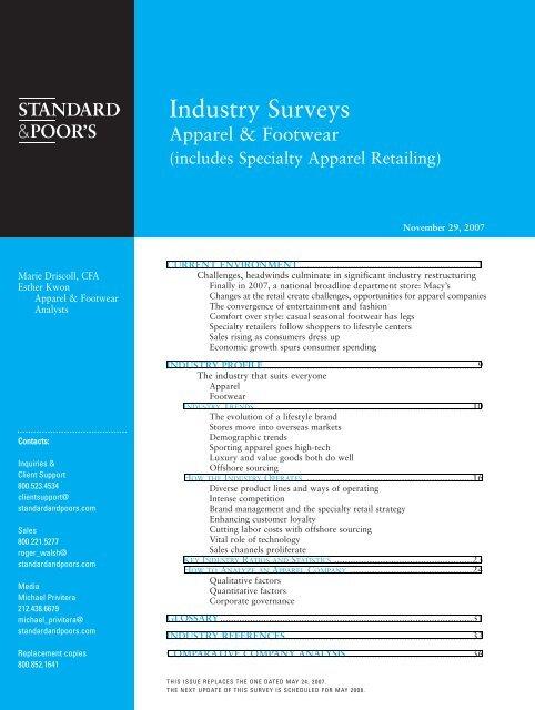 Industry Surveys