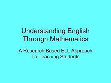 Understanding the English Language Through Mathematics