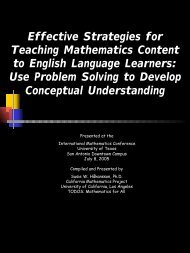 Effective Strategies for Teaching Mathematics Content to English ...