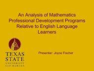 Mathematics Professional Development that Empowers Teachers of ...