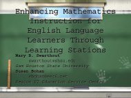 Mathematics Learning Stations Project for Grade 2-6 Teachers