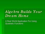 Algebra Builds Your Dream Home