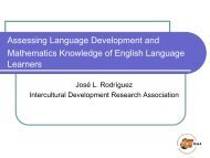 Assessing Language Development and Mathematics Knowledge of ...