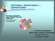 PARTIENDO , REPARTIENDO Y… COMPARTIENDO Partitioning ...
