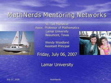 MathNerds - Mathematics for English Language Learners Project