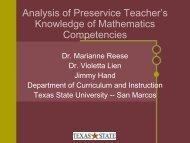 Analysis of Preservice Teacher's Knowledge of Mathematics ...