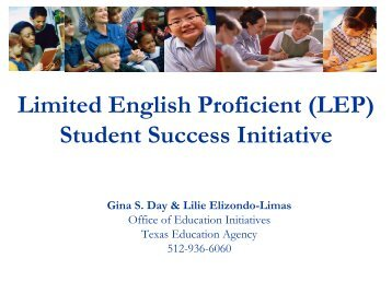 (LEP) Student Success Initiative - Mathematics for English ...