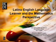 Understanding the Latino English Language Learner