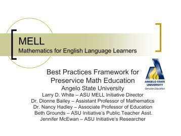 Best Practices Framework for Preservice Math Education