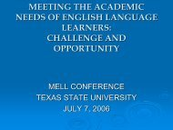 Opening Session: Meeting the Challenge - Mathematics for English ...