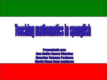 Profesor Alumno - Mathematics for English Language Learners Project