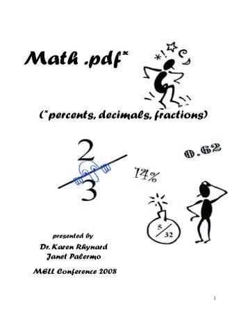 MATH: PDF (Percent, Decimal, Fraction) - Mathematics for English ...