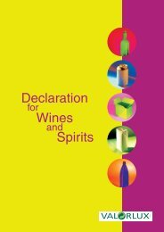 Declaration Wines Spirits - valorlux.lu