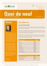éditorial Info adhérents - valorlux.lu