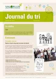 Journal du tri - valorlux.lu