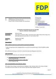 Vorstandssitzung vom 25.04.2012