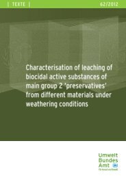 Characterisation of leaching of biocidal active substances of main ...