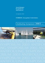 Dokumentation des Antifouling Symposiums 2003 - Global Nature ...