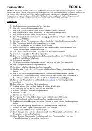 Präsentation ECDL 6 - HS-Langschlag