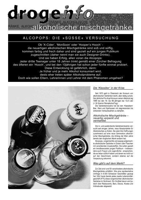 alkoholische mischgetränke - kontakt+co Suchtprävention ...
