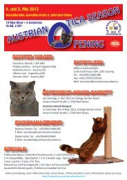 Flyer zur Katzenausstellung in Bad Vöslau - Katze & Du