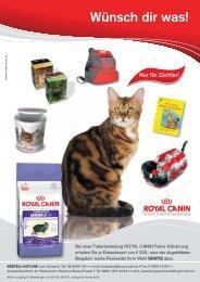 Royal Canin Angebotsblatt für Katzenzüchter - Katze & Du