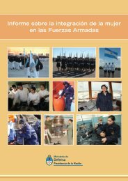 Informe sobre la integración de la mujer en las ... - Armada Argentina