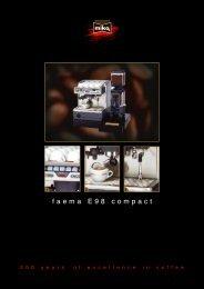 faema E98 compact - CoffeeSnobs