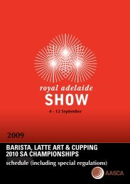 barista, latte art & cupping 2010 sa championships - CoffeeSnobs