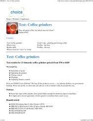 CHOICE - Test: Coffee grinders - CoffeeSnobs