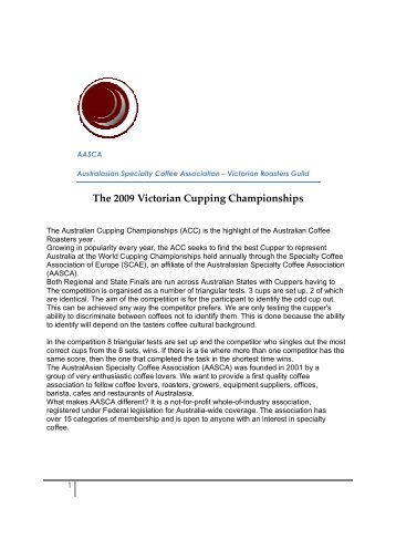 The 2009 Victorian Cupping Championships - CoffeeSnobs