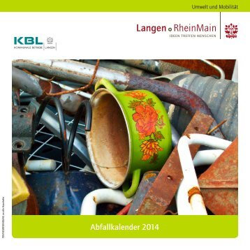 Abfallkalender 2014 - Kommunale Betriebe Langen