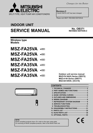 msz-fa25va - Mitsubishi Electric