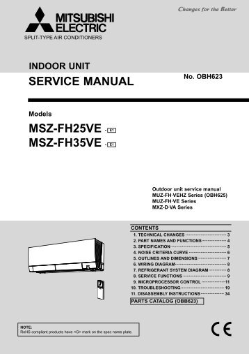 msz-fh25ve - e1 msz-fh35ve - e1 service manual - Mitsubishi Electric