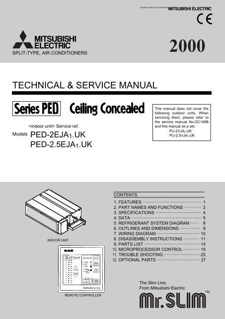 Technical Service Manual Mitsubishi Electric