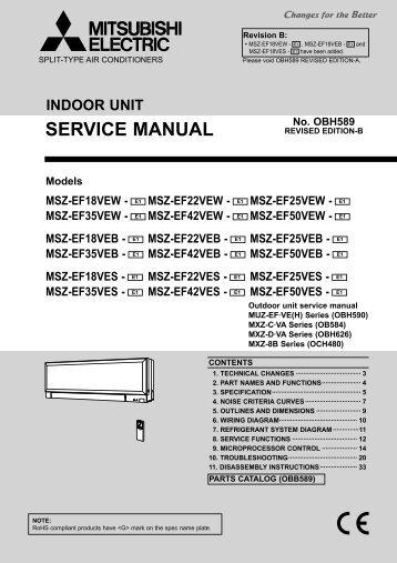 mitsubishi mszge09na indoor unit service manual free rh yumpu com