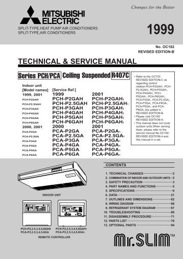 technical service manual ceiling mitsubishi electric rh yumpu com