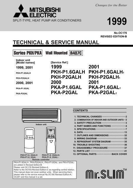 Technical Amp Service Manual Mitsubishi Electric