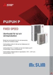 Produkt Broschyr PU/PUH YHA - Mitsubishi Electric
