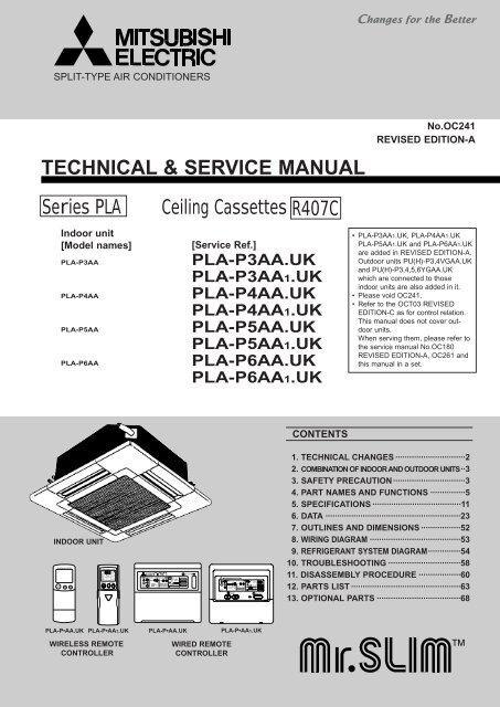 mitsubishi electric par20maa user manual