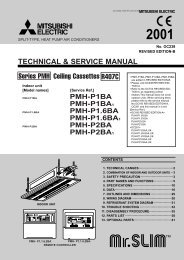 TECHNICAL & SERVICE MANUAL Ceiling ... - Mitsubishi Electric